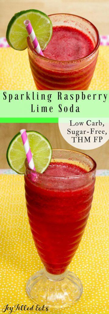 pinterest image for sparking raspberry lime soda