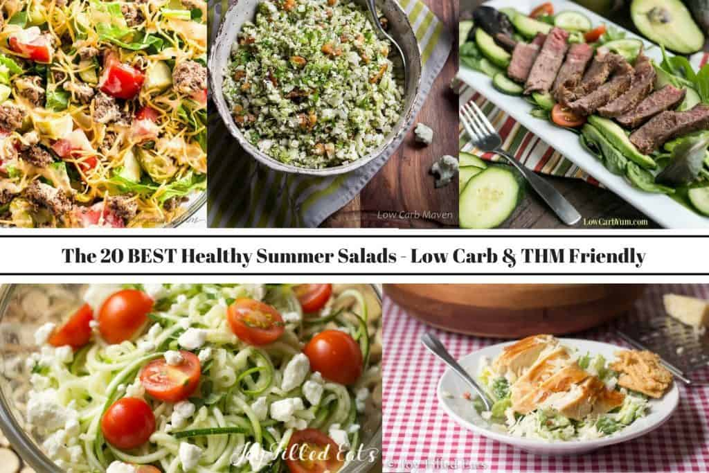 pinterest image for the 20 best healthy summer salads