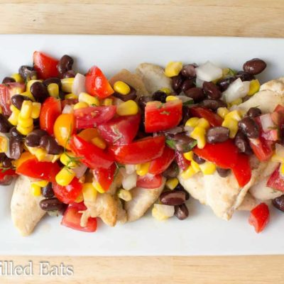 Cumin Chicken Black Bean Corn Salsa – Low Fat, THM E