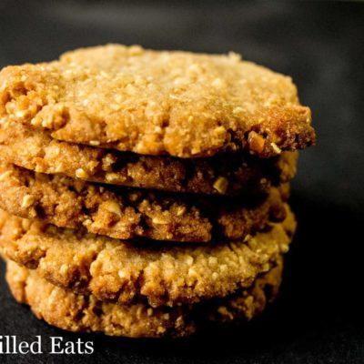 Crunchy Peanut Cookies – Low Carb, Grain Sugar Egg Free, THM S
