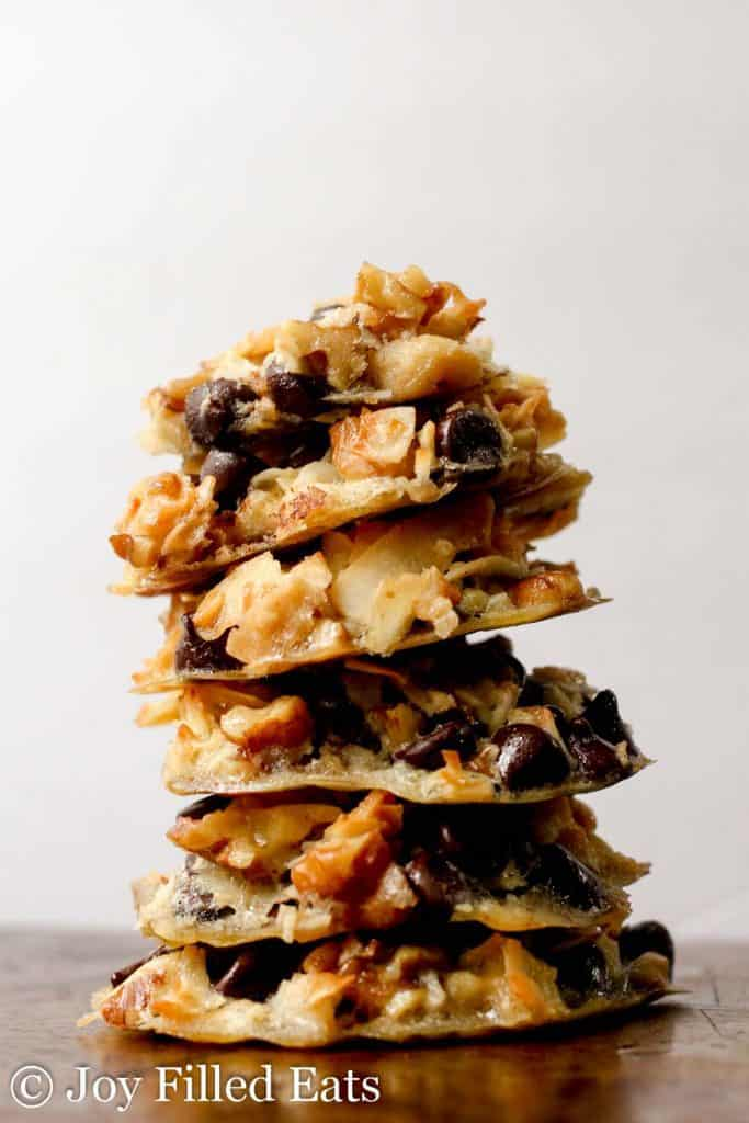 close up on stack of five minute magic cookies