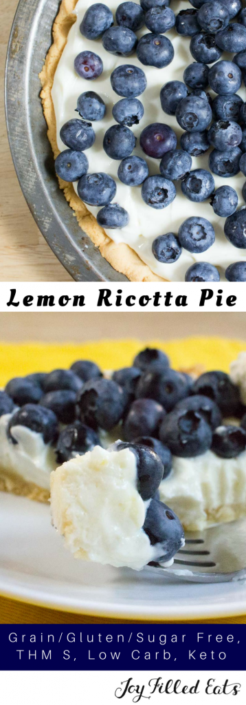 pinterest image for lemon ricotta pie