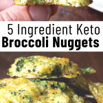 pinterest image for broccoli nuggets
