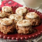 Mini Carrot Cake Cookie Bites with Cream Cheese Filling - Low Carb, Grain Gluten Sugar Free, THM S