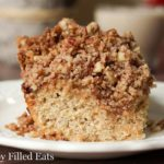 slice of cinnamon Pecan Crumb cake