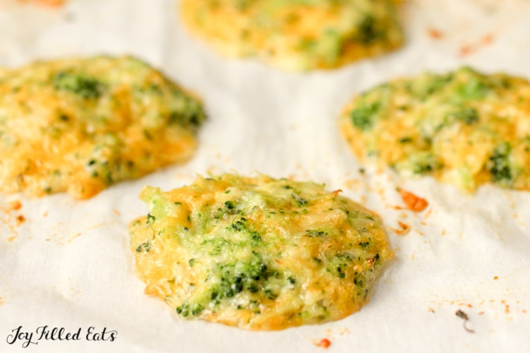 Broccoli Nuggets baked on parchment paper