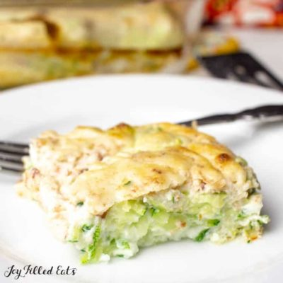 Bacon & Swiss Zucchini Bake – Low Carb, Low Fat, THM FP