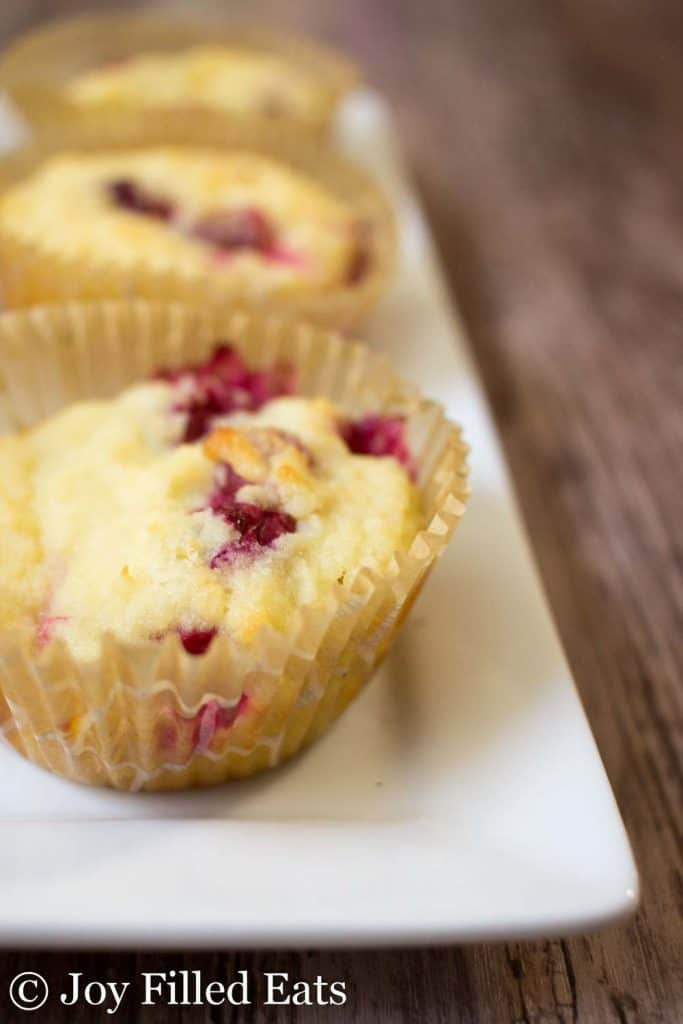 Cranberry Orange Muffins - Low Carb, Sugar Grain Gluten Free, THM S