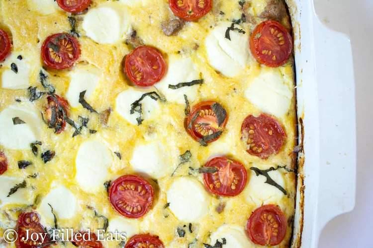 Sausage & Ricotta Breakfast Casserole - Low Carb, Grain Gluten Free, THM S, Keto