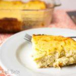 Roasted Garlic Cauliflower Souffle - Low Carb, Low Fat, THM FP, Grain Gluten Free