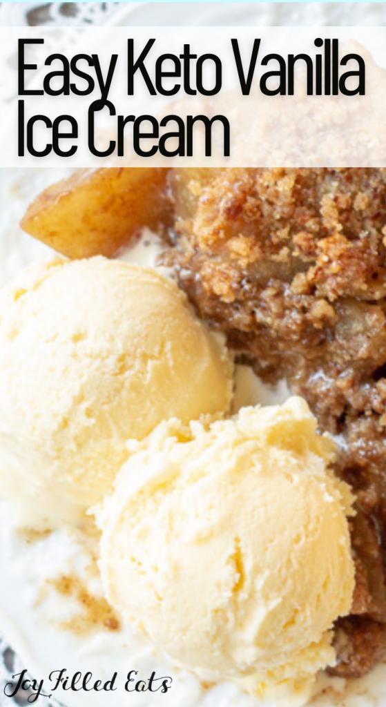 pinterest image for keto vanilla ice cream