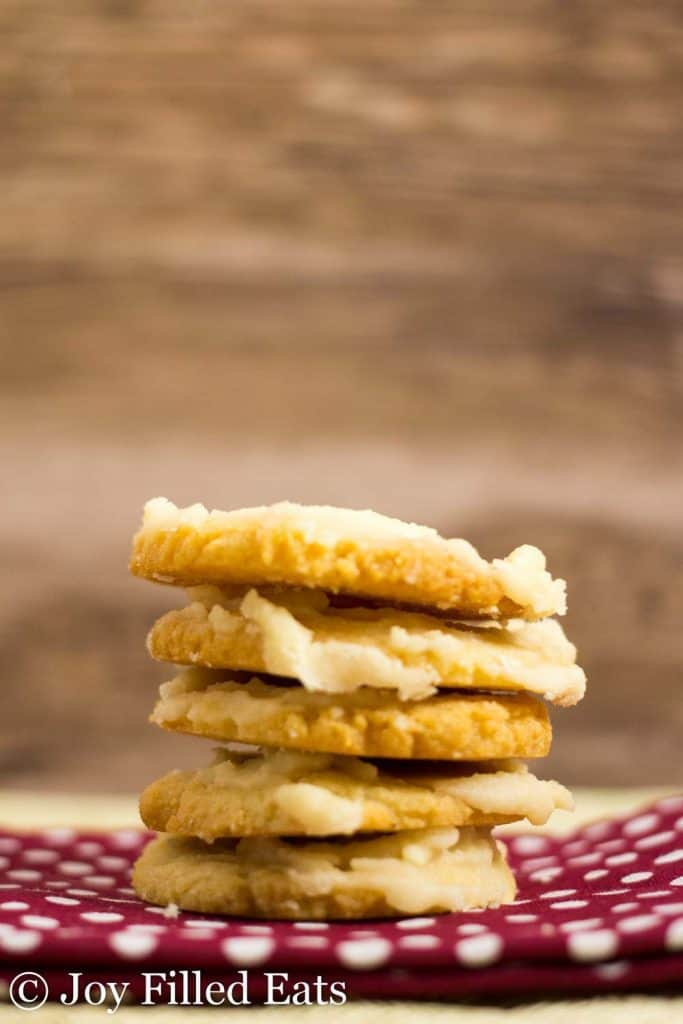 Iced Vanilla Cookies - Low Carb, Grain Gluten Sugar Free, THM S, Keto