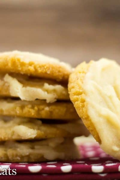 Iced Vanilla Cookies – Low Carb, Gluten Free, THM S