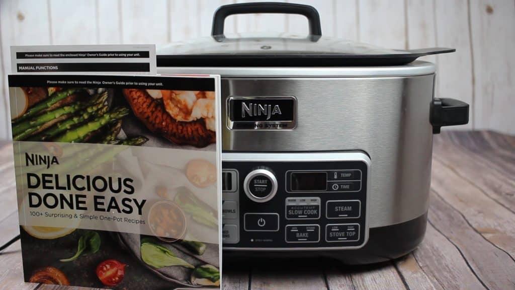 Ninja cooking system with ninja cook book