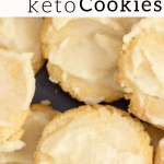 pinterest image for keto almond flour cookies