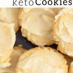 pinterest image for keto vanilla iced cookies