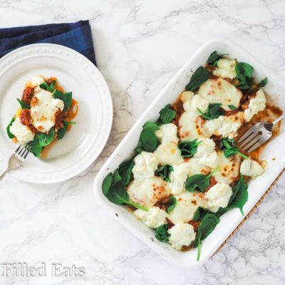 Spaghetti Squash Lasagna - Low Carb, Grain Gluten Free, THM S