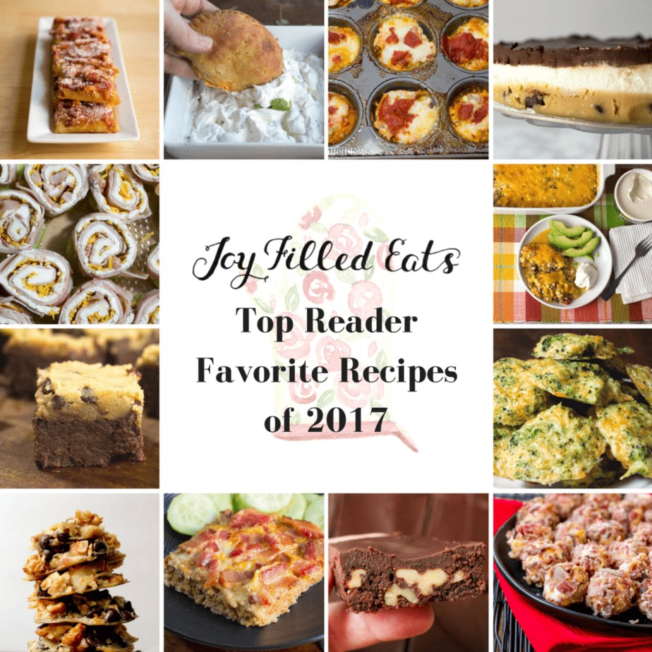 Joy Filled Eats Top Reader Favorite Recipes of 2017 with collage of images