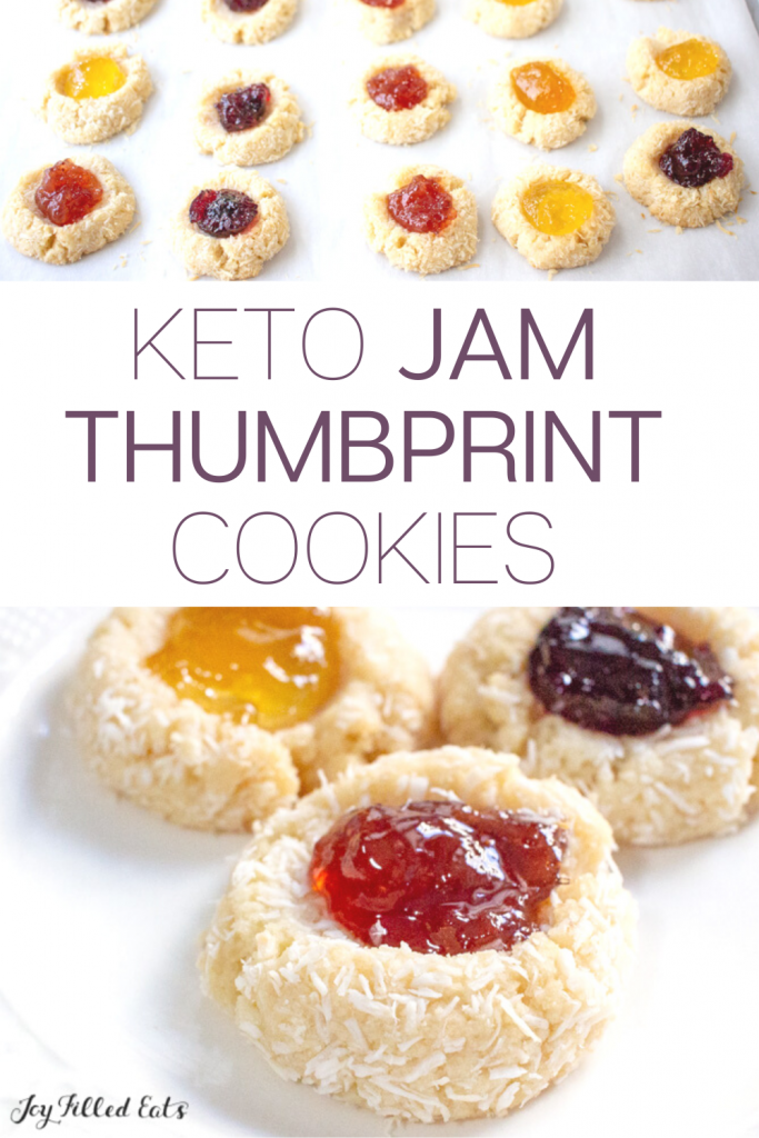 pinterest image for thumbprint cookies