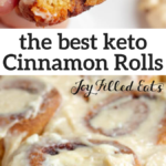 pinterest image for cinnamon rolls