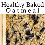 pinterest image for healthy baked oatmeal