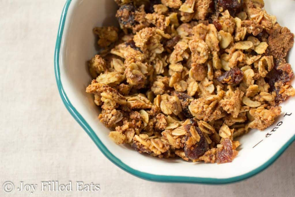 Oatmeal Cranberry Cookie Granola - THM E, Low Fat, Gluten Free, Sugar Free, Healthy Carb