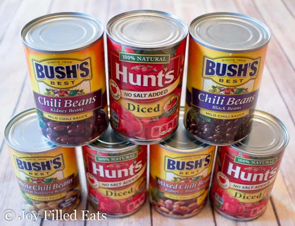 canned ingredients for turkey taco chili