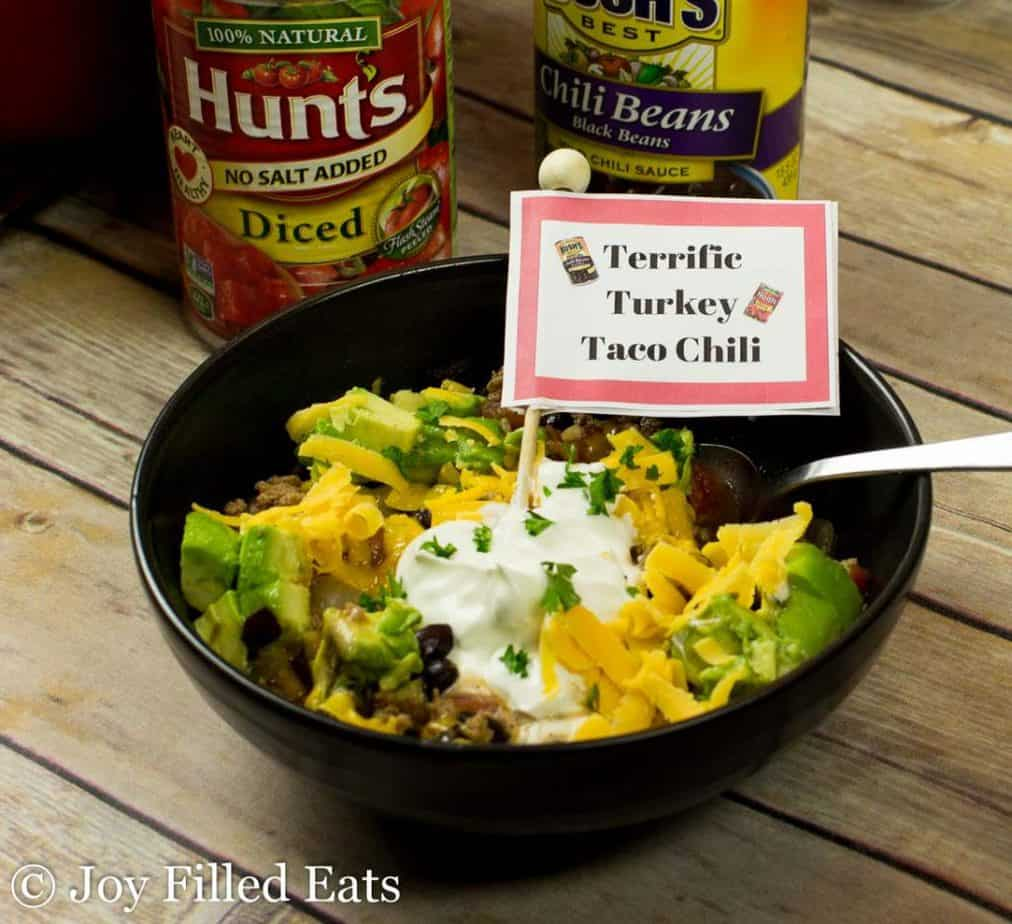 Terrific Turkey Taco Chili - Low Carb, Grain Gluten Free, THM S, Easy, Family Friendly