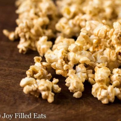 Salted Caramel Popcorn – THM E, Sugar Free, Low Fat