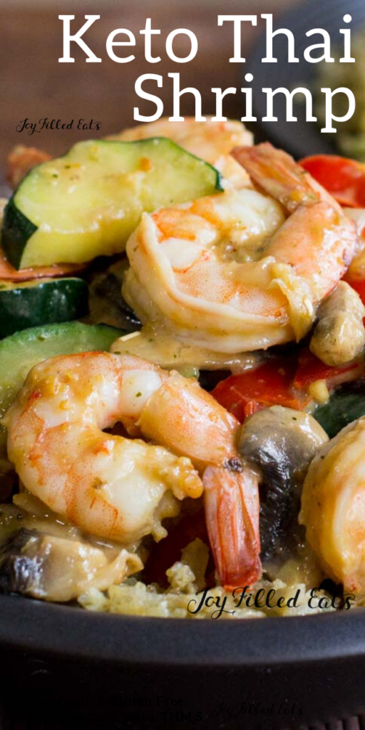 pinterest image for keto thai shrimp