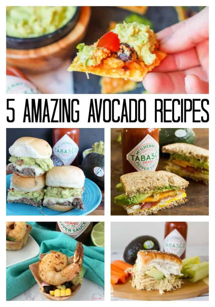 pinterest image for 5 amazing avocado recipes
