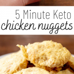 pinterest image for keto chicken nuggets