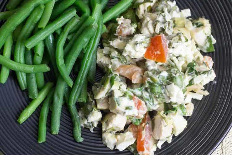 Mediterranean Chicken & Spinach Casserole
