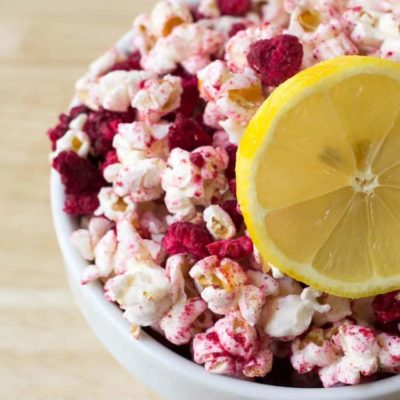 Raspberry Lemonade Popcorn – Sugar-Free, THM E