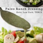 pinterest image for paleo ranch dressing