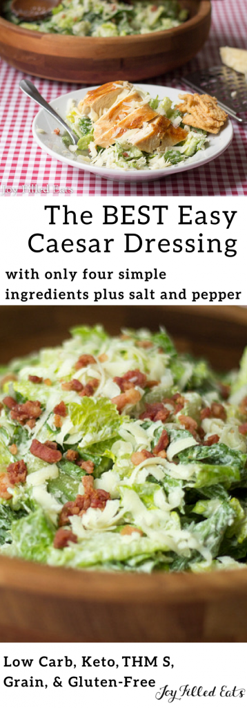 pinterest image for keto Caesar salad with bacon