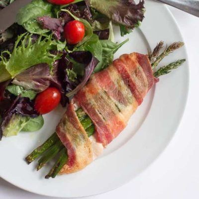 Stuffed Chicken with Asparagus & Bacon