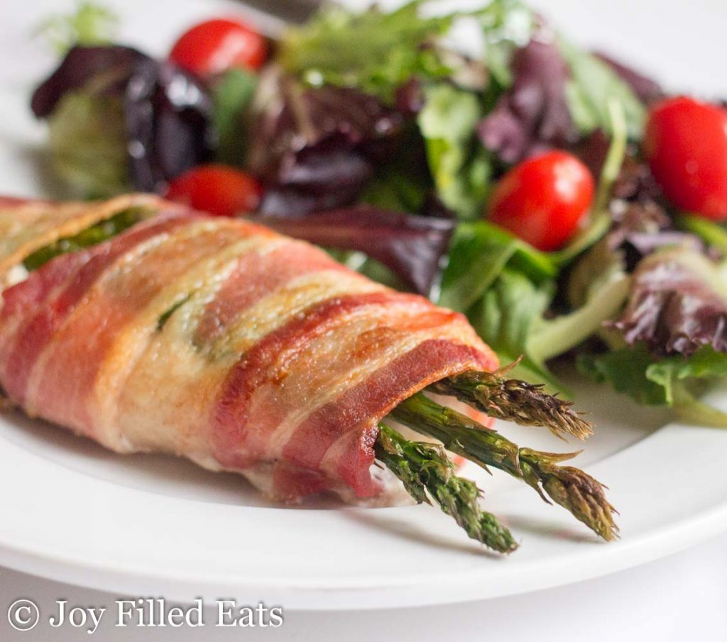 Stuffed Chicken with Asparagus Wrapped in Bacon - Low Carb, Keto, Grain-Free, Gluten-Free, THM S - My Stuffed Chicken with Asparagus & Bacon has only 3 ingredients and a 5 minute preparation but it will impress your dinner company time after time.