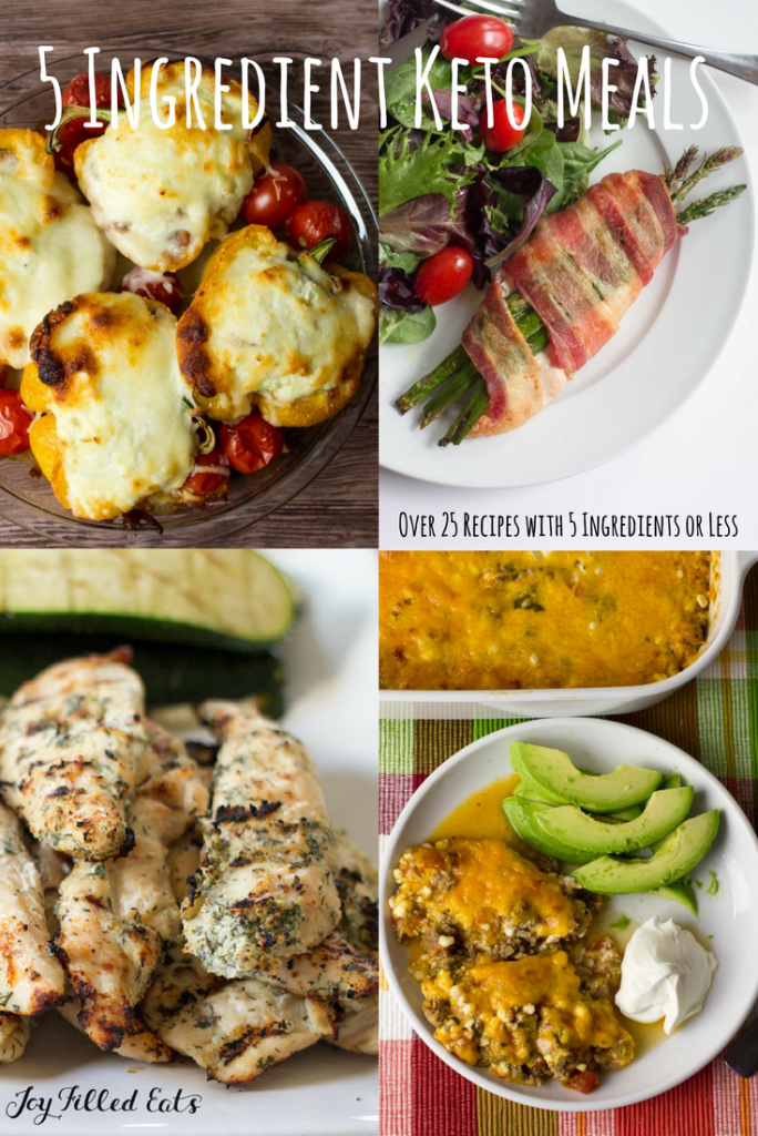 Easy Keto Meals 5 Ingredients or Less - Over 25 Low Carb Recipes