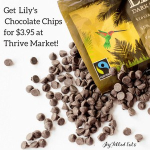 Advertisement for Lily's Chocolate Chips at Thrive Market