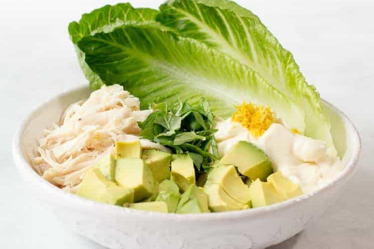 Best Chicken Salad with Avocado Keto Low Carb THM S