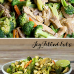 pinterest image for thai peanut chicken & broccoli