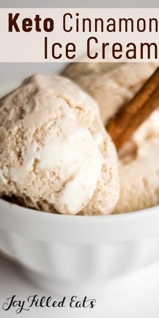 pinterest image for cinnamon roll ice cream