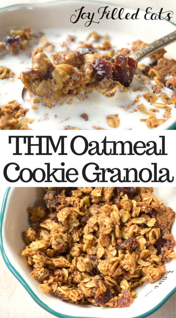 pinterest image for THM oatmeal cookie granola