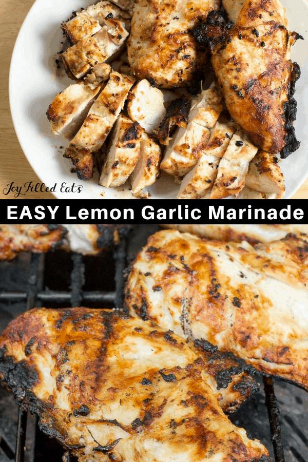 pinterest image for lemon garlic marinade