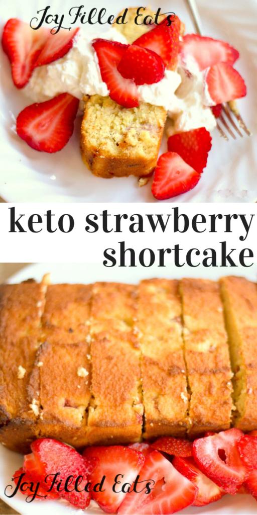 pinterest image for keto strawberry shortcake
