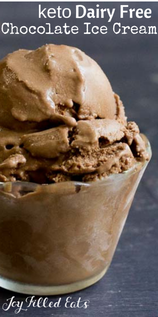 pinterest image for keto dairy free chocolate ice cream