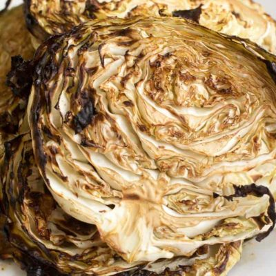Roasted Cabbage Steaks with Balsamic