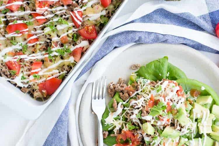 Taco Salad Casserole Recipe – Meal Prep Low Carb Keto