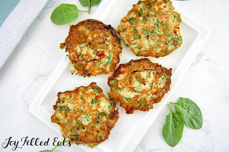 Keto Spinach and Feta Pancake